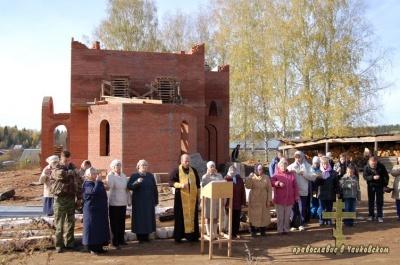 Строительство храма в п.Марковский